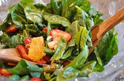 Quick & Easy Spinach Salad Recipe