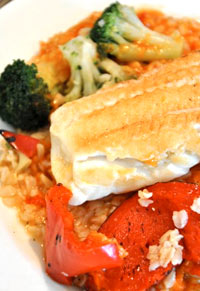 Dec%2015%20Newsletter Broiled White Fish with Brown Rice & Veggies