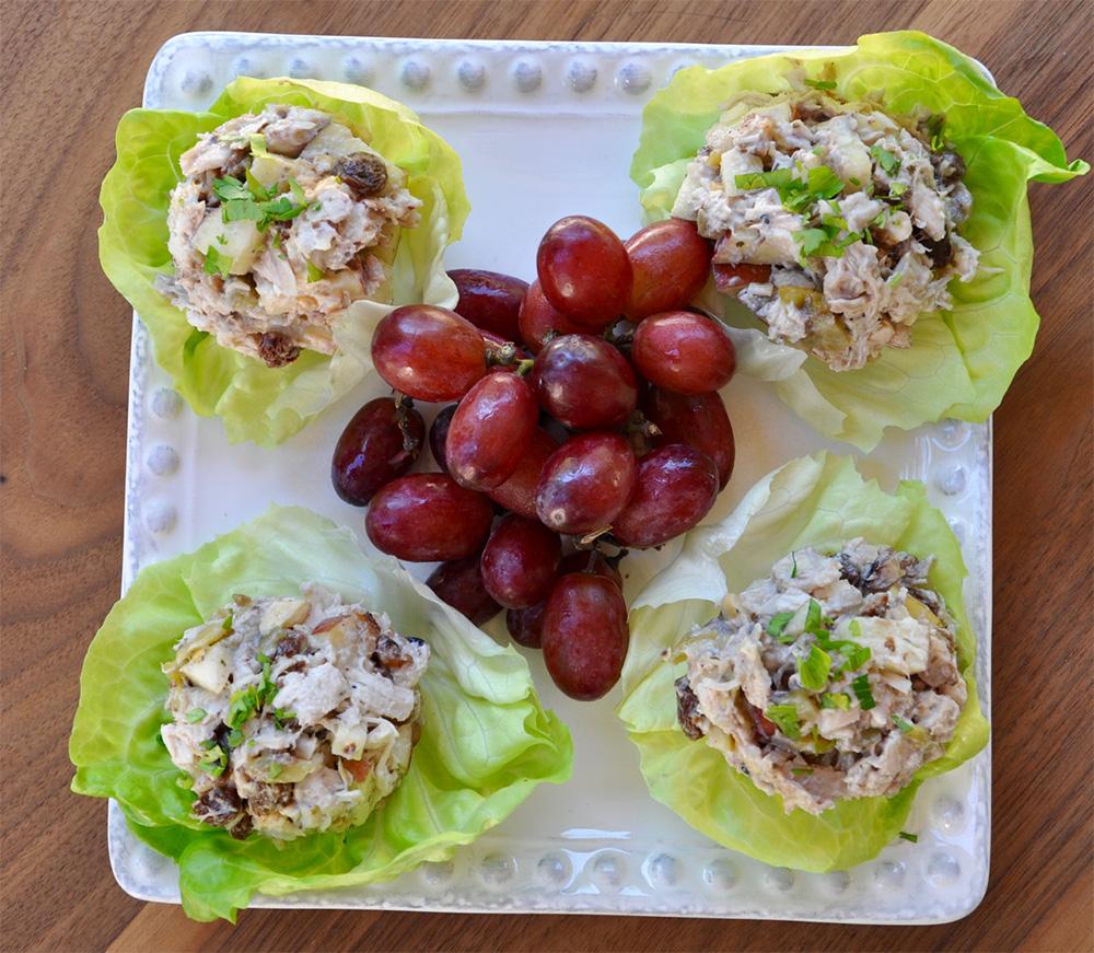 Fitness chicken lettuce boats
