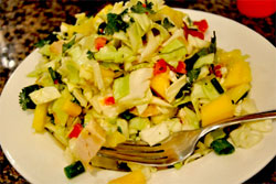 Tropical Chicken Salad Is Perfect To Have Before Or After Your Exercise Routine