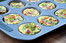 Ham and Chive Egg Muffins