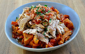Slow Cooker Spiced Chicken and Sweet Potato