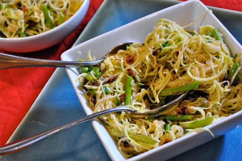 Zucchini and Asparagus Pasta
